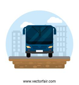 urban bus transport and city building