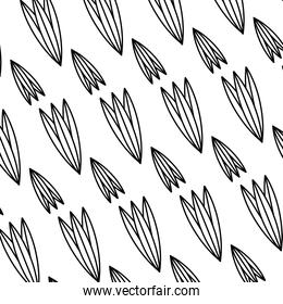 line tropical natural plant style background