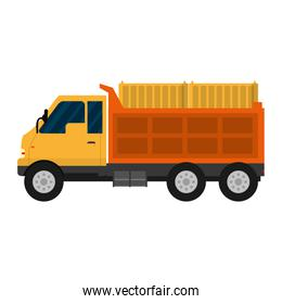 truck containers transport delivery service