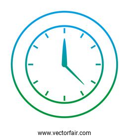 degraded line circle clock time object design