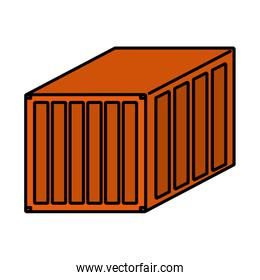 color delivery container cargo shipping export