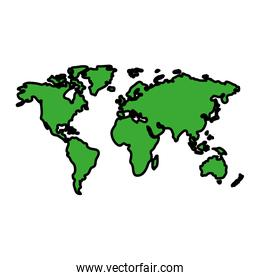 color global map continent world geography