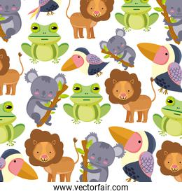 cute exotic wild animal background