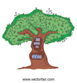 education books organized in the ecology tree