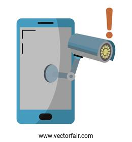 electronic smartphone technology with video camera