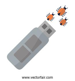usb memory with spiders virus data