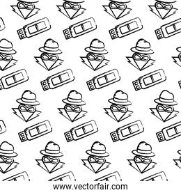 grunge usb memory and hacker thief background