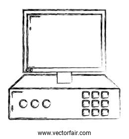 grunge electronic screen computer service technology
