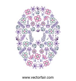 exotic flowers plants circle background