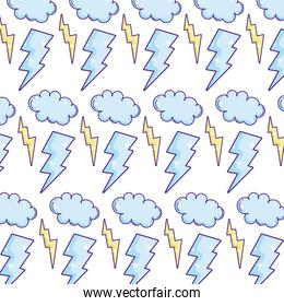 thunders storm and cloud weather background