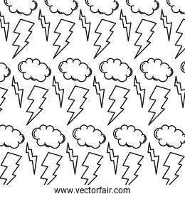 line thunders storm and cloud weather background