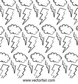 grunge thunders storm and cloud weather background