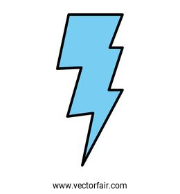 color electric thunder ray weather style