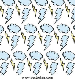 color thunders storm and cloud weather background