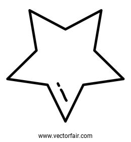line art sparkly star design icon