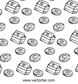 grunge delicious donuts and fashion box background