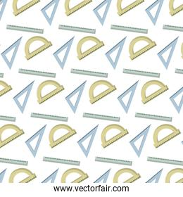 ruler with squard and protractor utensils background