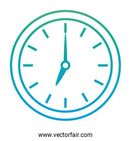 degraded line circle clock object icon style