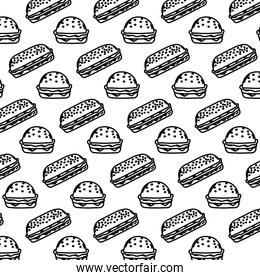 line delicious unhealthy hamburger food background