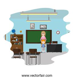 teacher and student learning in the school classroom