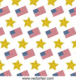 usa flag nation and star background