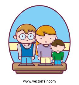 nice family love expression together