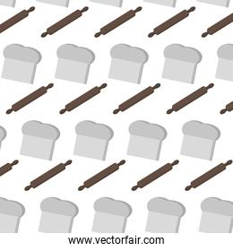 rolling pin and chef hat background
