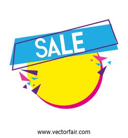 fashion sale promo label message