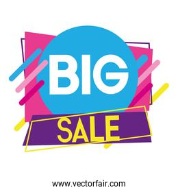 big sale promotion tag discount