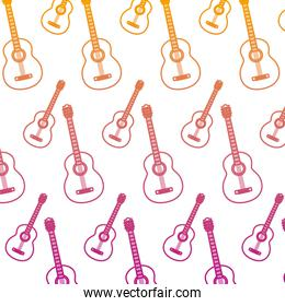 degraded line guitar music instrument style background