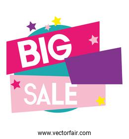big sale offer discount tag