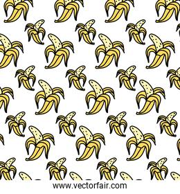 color delicious banana organic fruit background