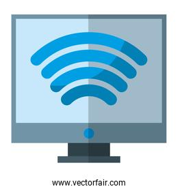 electronic computer with wifi device connection