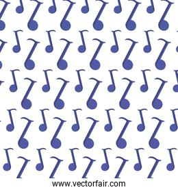 quaver musical note sign background