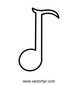 line quaver rhythm musical note sign
