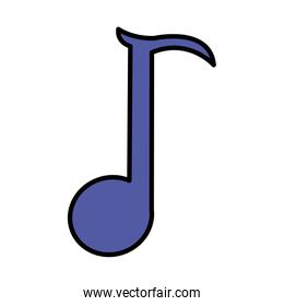 color quaver rhythm musical note sign