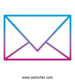 degraded line e-mail message letter text style