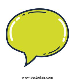 chat bubble text graphic message