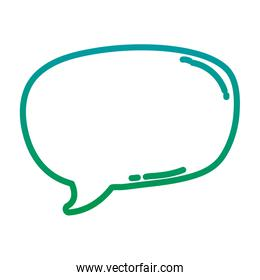 degraded line chat bubble text message icon
