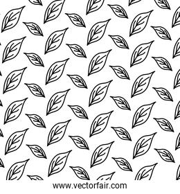 line cute exotic leaf style background