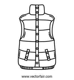 line fashion cold vest with buttons style