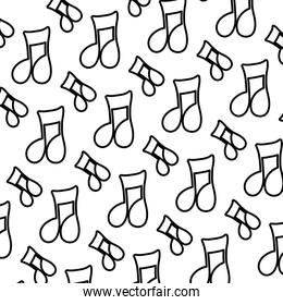 line musical beam notes sign background