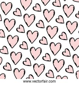 color nice heart symbol background style