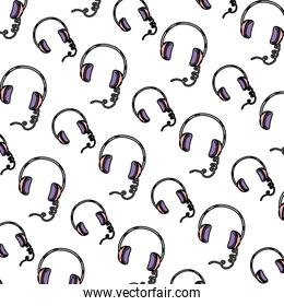 color headphone modern music object background