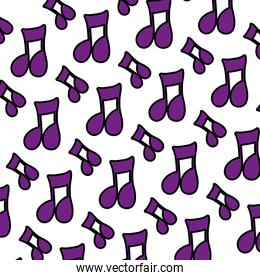 color musical beam notes sign background