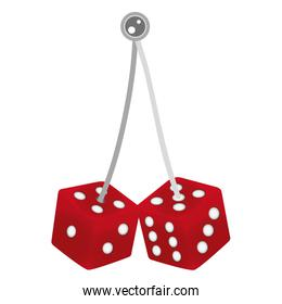 casino cubes dices game hanging
