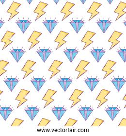 luxury diamond and ray symbol background