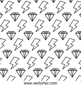 line luxury diamond and ray symbol background