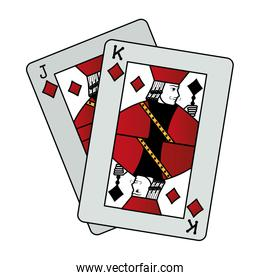 color jack and king diamonds cards casino game
