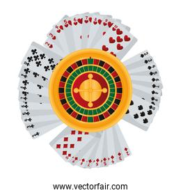 casino poker cards and roulette games
